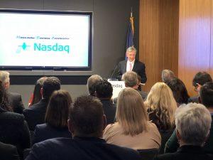 Speaking at Nasdaq