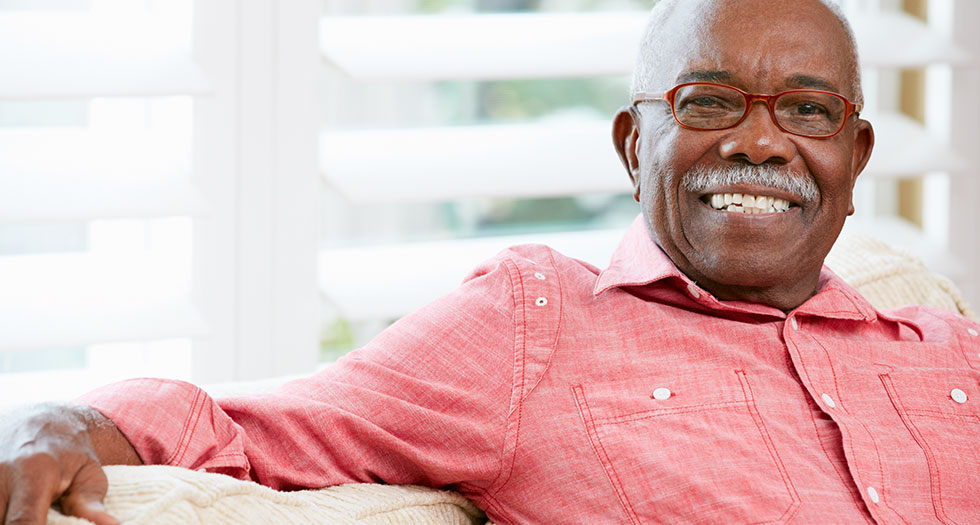 Retiree enjoys home because of a reverse mortgage.